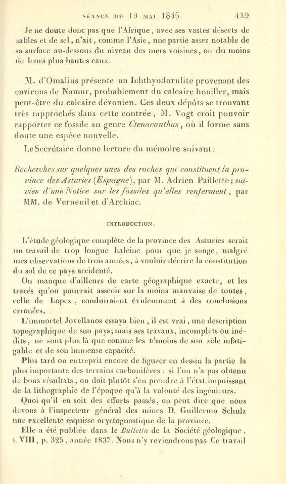 Scéance du 19 mai 1845