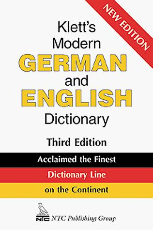 Download Klett's modern German and English dictionary