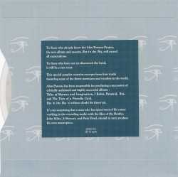 The Alan Parsons Project - Eye In The Sky (excerpt)